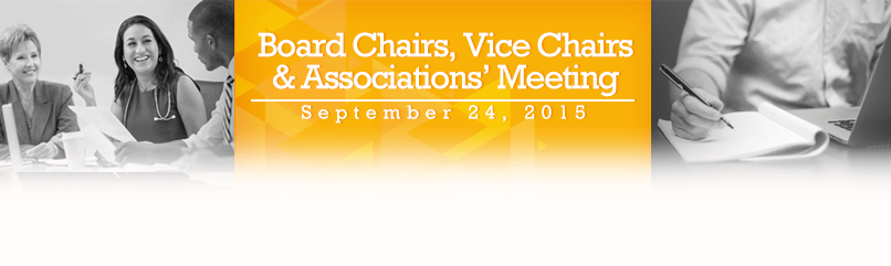 Board Chairs, Vice Chairs & Associations' Meeting Announcement